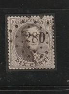 COB N° 14b Oblitération L280 Oostvleteren - 1863-1864 Médaillons (13/16)