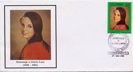 Lote 1872F, Colombia, 1992, SPD - FDC, Gloria Lara, Woman, Personage - Colombia