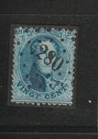 COB N° 15 Oblitération L280 Oostvleteren - 1863-1864 Médaillons (13/16)