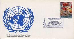 Lote 1880F, Colombia, 1992, SPD - FDC, VIII Conferencia Unctad. ONU, Cartagena, Heritage City - Colombia