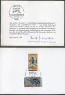 "Bund: Minister Card - Ministerkarte Typ V, Mi-Nr 974-75 ESST:Fossilien "" Fossilienfunde "", Rar !      X - BRD"