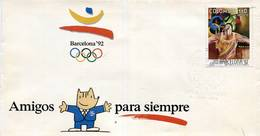 Lote 1884F, Colombia, 1992, SPD - FDC, Juegos Olimpicos Barcelona 92, Olympic Games - Colombia