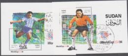 SUDAN - 1995- WORLD CUP USA SOUVENIR SHEETS FINE USED, SG £10 - Sudan (1954-...)