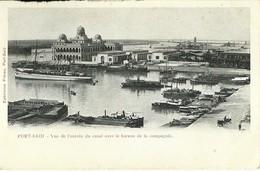 """4790 """" PORT SAID-VUE DE L'ENTREE DU CANAL AVEC LE BUREAU DE LA COMPAGNIE """" ANIMATA - CART. POST. ORIGINALE NON SPED. - Port Said"""