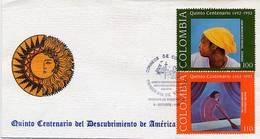 Lote 1891-2F, Colombia, 1992, SPD - FDC, Quinto Centenario, Colon, Columbus, Art - Colombia