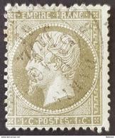 1862, Emperor Napoléon Lll, 1c, Empire Française, France - 1862 Napoleon III