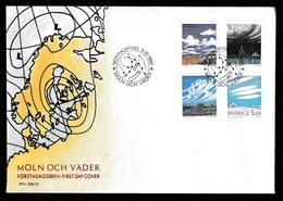 SWEDEN 1990 Clouds & Weather/Möln Och Väder: First Day Cover CANCELLED - FDC