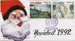 Lote 1899-0F, Colombia, 1992, SPD - FDC, Navidad, Christmas - Colombia