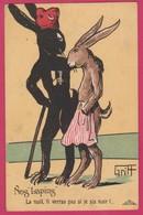 Guerre 1914-18 Ww1 Griff Art Lapins Humanisés Tirailleur Senegal ( Theme Racist Racisme Raciste Racism ) - Guerre 1914-18