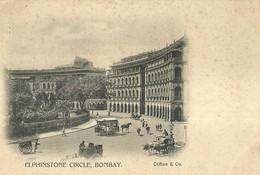 "4793 "" ELPHINSTONE CIRCLE-BOMBAY "" ANIMATA- CART. POST. ORIGINALE NON SPED. - India"