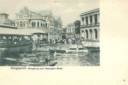 "4796 "" SINGAPORE - HONGKONG AND SHANGHAI BANK  ""ANIMATA - CART. POST. ORIGINALE NON SPED. - Singapore"