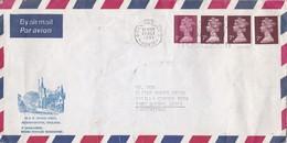 1981 ENGLAND AIRMAIL CIRCULEE TO ARGENTINE. BANDELETA PARLANTE- BLEUP - 1952-.... (Elizabeth II)
