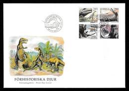 SWEDEN 1992 Prehistoric Animals/Förhistoriska Djur: First Day Cover CANCELLED - FDC