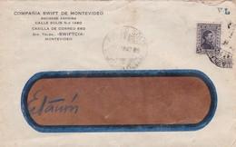 1942 URUGUAY COMMERCIAL COVER-COMPAÑIA SWIFT DE MONTEVIDEO- BLEUP - Uruguay
