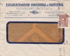 1971 ARGENTINE COMMERCIAL COVER-ESTABLECIMIENTO INDUSTRIAL DE PAPELERIA. CIRCULEE, BANDELETA PARLANTE- BLEUP - Storia Postale