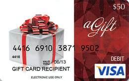 $50 Generic VISA Debit Gift Card - Gift Cards