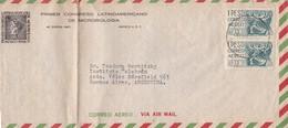 1952 MEXICO COMMERCIAL COVER-PRIMER CONGRESO LATINOAMERICANO MICROBIOLOGIA, CIRCULEE TO BUENOS AIRES- BLEUP - Mexique