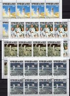 50 Jahre Mondlandung 1969 Niger 1069/2 8-KB O 48€ Apollo 11 Armstrong NASA-Raumfahrt Space Sheetlet Flags Bf Africa - Collections