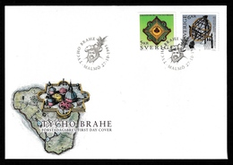 SWEDEN 1995 Tycho Brahe: First Day Cover CANCELLED - FDC