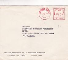 1977 ARGENTINE COMMERCIAL COVER-CAMARA ARGENTINA DE LAINDUSTRIA PLASTICA. CIRCULEE, FRANKING MACHINE- BLEUP - Argentinië