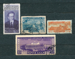 USSR, 1950; Lot Of 4 Used Stamps MiNr 1517, 1518, 1519, 1552 - 1923-1991 URSS