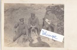 Foto Offiziere Mit Fuchs Fox Maskottchen Russland 1917  Deutscher Soldat 1.Weltkrieg - Krieg, Militär