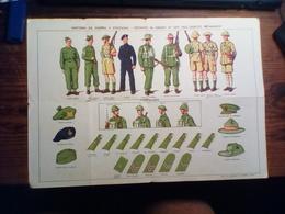 """4814"""" UNIFORMI DA GUERRA E COLONIALI-DIST. DI GRADO IN USO NELL'ES. BRITANNICO-TIPI DI CARRI ARMATI....... """"   ORIGINALE - 1939-45"""
