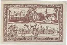 Austria (NOTGELD) 10 Heller 28-4-1920 Desselbrunn KON 119 A.1 UNC - Austria