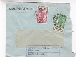 1940'S PERU COMMERCIAL COVER-BANCO POPULAR DEL PERU. CIRCULEE- BLEUP - Bolivie