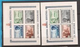 1943 BLOCK  5 A-B  MILITARI KROATISCHE LEGIONARI    CROAZIA KROATIEN  FALZ HINGED   LUX - Croazia