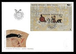 SWEDEN 2004 NORDEN Nordic Mythology/Möte I Valhall: First Day Cover CANCELLED - FDC
