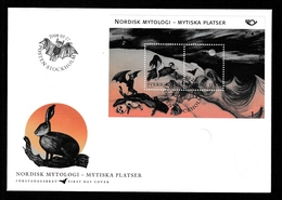 SWEDEN 2008 NORDEN Mythical Places/Mytiska Platser: First Day Cover CANCELLED - FDC