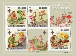 Sao Tome 2009 Scouts & Mushrooms - Sao Tome And Principe