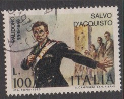 Italy Republic S 1308 1975 Salvo D'Acquisto,used - 6. 1946-.. Republic