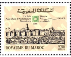 Ref. 197400 * MNH * - MOROCCO. 1986. ARCHITECTURE AGA KHAN PRIZE . PREMIO AGA KHAN DE ARQUITECTURA - Marruecos (1956-...)
