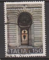 Italy Republic S 1327 1976 State Advocate's Office Centenary,used - 6. 1946-.. Republic