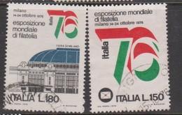 Italy Republic S 1328-1329 1976 Italia 76 Philatelic Exposition,used - 6. 1946-.. Republic