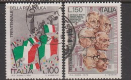 Italy Republic S 1335-1336 1976 30th Anniversary Of Republic,used - 6. 1946-.. Republic