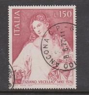 Italy Republic S 1342 1976 Tiziano Vercellioused - 6. 1946-.. Republic