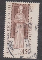 Italy Republic S 1343 1976 750th Anniversary Death Of St Francis,used - 6. 1946-.. Republic
