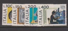Italy Republic S 1344-1348 1976 International Philatelic Exhibition,used - 6. 1946-.. Republic