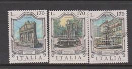 Italy Republic S 1350-1352 1976 Fountais 4th Issue,used - 6. 1946-.. Republic