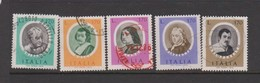 Italy Republic S 1352-1356 1976 Famous Artists 4th Issue,used - 6. 1946-.. Republic