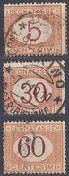 ITALIA - Segnatasse - Lotto Di 3 Valori Usati: Yvert 5, 8 E 11. - 1861-78 Victor Emmanuel II.