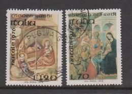 Italy Republic S 1358-1359 1976 Christmas,used - 6. 1946-.. Republic