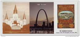 Olympic Game St. Louis USA In 1904,Gateway Arch,World Fair Expo,CN 12 Under Flag Of Five-Rings History Of Olympiad PSC - Sommer 1904: St-Louis