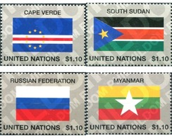 Ref. 300612 * MNH * - UNITED NATIONS. New York. 2013. FLAGS . BANDERAS - New York – UN Headquarters