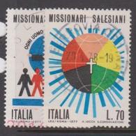 Italy Republic S 1366-1367 1977 Salesian Missionaries,used - 6. 1946-.. Republic