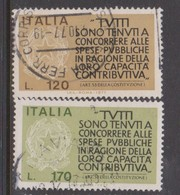 Italy Republic S 1368-1369 1977 Pay Your Taxes,used - 1971-80: Used