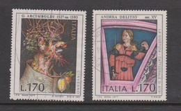 Italy Republic S 1380-1381 1977 Art 4th Issue ,used - 1971-80: Used